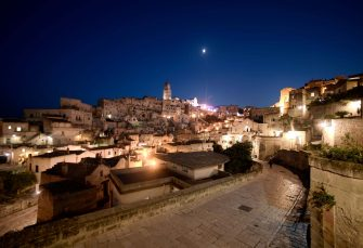 A general view taken on October 19, 2018 shows the southern Italian city of Matera, which has been selected as the 2019 European capital of culture. (Photo by Filippo MONTEFORTE / AFP)        (Photo credit should read FILIPPO MONTEFORTE/AFP via Getty Images)