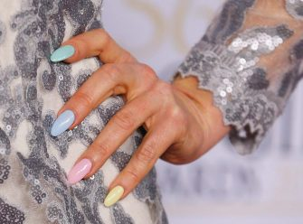 MELBOURNE, AUSTRALIA - APRIL 27:  A detail of the fingernails of Charli Robinson as she arrives at the 2014 Logie Awards at Crown Palladium on April 27, 2014 in Melbourne, Australia.  (Photo by Scott Barbour/Getty Images)
