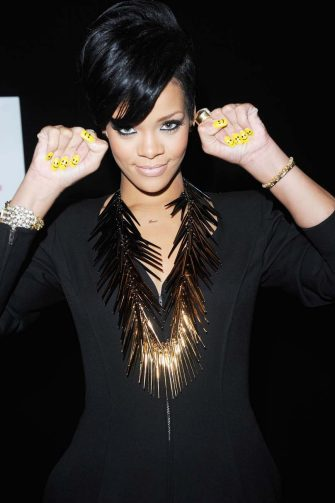 (EXCLUSIVE, Premium Rates Apply) LONDON - DECEMBER 10:  ***EXCLUSIVE COVERAGE***  Singer Rihanna poses backstage at Capital FM's Jingle Bell Ball held at the 02 Arena Docklands on December 10, 2008 in London, England.  (Photo by Jon Furniss/WireImage)