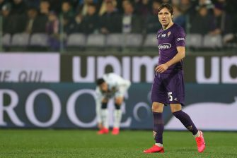 FLORENCE, ITALY - JANUARY 25: Federico Chiesa of ACF Fiorentina in action during the Serie A match between ACF Fiorentina and  Genoa CFC at Stadio Artemio Franchi on January 25, 2020 in Florence, Italy.  (Photo by Gabriele Maltinti/Getty Images)