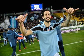 L'esultanza finale di Luis Alberto Campionato di Serie A incontro Parma v Lazio allo stadio Tardini di Parma. Parma, 9-02-2020 © Marco Rosi / Fotonotizia