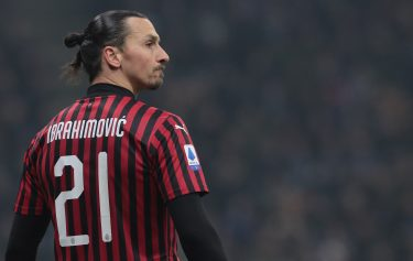 during the Serie A match between FC Internazionale and AC Milan at Stadio Giuseppe Meazza on February 9, 2020 in Milan, Italy.