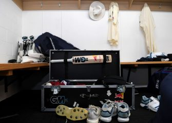 HAMILTON, NEW ZEALAND - NOVEMBER 29: Ben Stokes of England's kit in the dressing room ahead of day 1 of the second Test match between New Zealand and England at Seddon Park on November 29, 2019 in Hamilton, New Zealand. (Photo by Gareth Copley/Getty Images)