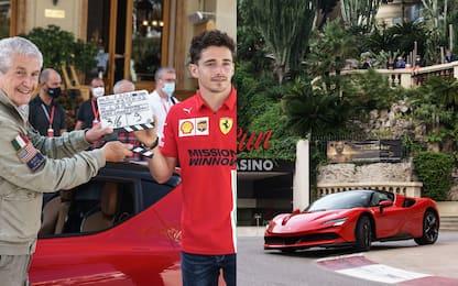 Ferrari, le prime immagini del corto di Lelouch con Leclerc. FOTO