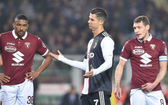 Juventus? Cristiano Ronaldo (C) reacts during the Italian Serie A soccer match Torino FC vs Juventus FC at the Olimpico Grande Torino stadium in Turin, Italy, 02 November 2019. ANSA/ALESSANDRO DI MARCO