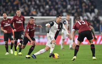 Juventus Cristiano Ronaldo in action during the italian Serie A soccer match Juventus FC vs AC Milan at Allianz stadium in Turin, Italy, 10 November 2019  ANSA/ ALESSANDRO DI MARCO