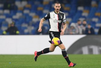 NAPLES, ITALY - JANUARY 26: Leonardo Bonucci of Juventus during the Serie A match between SSC Napoli and  Juventus at Stadio San Paolo on January 26, 2020 in Naples, Italy. (Photo by Francesco Pecoraro/Getty Images)