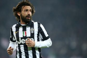 Juventus' midfielder Andrea Pirlo during the Italian Serie A football match Juventus Vs Inter Milan on January 6, 2015 at Juventus  Stadium in Turin.  AFP PHOTO / MARCO BERTORELLO        (Photo credit should read MARCO BERTORELLO/AFP via Getty Images)