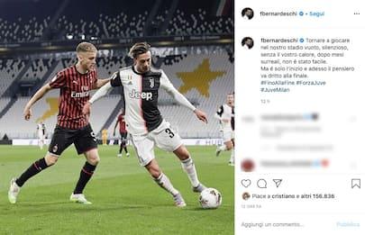 Calcio, i post sui social dei calciatori dopo la ripartenza