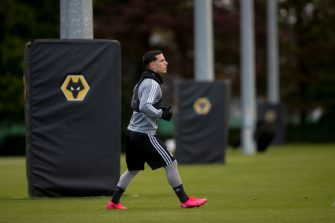 WOLVERHAMPTON, ENGLAND - MAY 15: Daniel Podence of Wolverhampton Wanderers participates in an isolated fitness session during the COVID-19 lockdown at Sir Jack Hayward Training Ground on May 15, 2020 in Wolverhampton, England. (Photo by Wolverhampton Wanderers FC/WWFC via Getty Images)