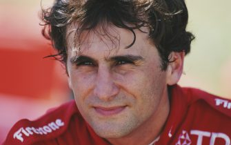 Alex Zanardi of Italy and driver of the #4 Target Chip Ganassi Racing Reynard 97i  during the Championship Auto Racing Teams (CART) 1996 PPG Indy Car World Series IndyCar Bartercard Indycar Australia race on 31 March 1996 at the Surfers Paradise Street Circuit, Surfers Paradise, Queensland, Australia. (Photo by Darrell Ingham/Allsport/Getty Images)