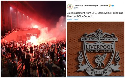 Liverpool, festa per vittoria Premier. Il club sgrida i tifosi. FOTO