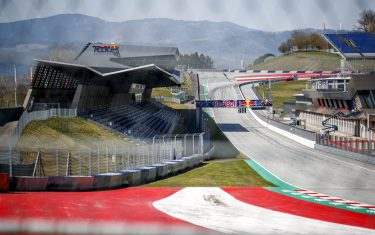 The start and finish line at the Red Bull Ring race track is photographed in Spielberg, southern Austria on April 17, 2020 - The Formula 1 motorsports 2020 season will likely begin in Europe in July and potentially behind closed doors at the racing track in Spielberg when it  gets under way, after the the Covid-19 coronavirus pandemic has caused delays. (Photo by ERWIN SCHERIAU / APA / AFP) / Austria OUT (Photo by ERWIN SCHERIAU/APA/AFP via Getty Images)