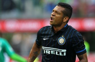 MILAN, ITALY - SEPTEMBER 14:  Vasquez Fredy Alejandro Guarin of FC Internazionale Milano celebrates his goal during the Serie A match between FC Internazionale Milano and US Sassuolo Calcio at Stadio Giuseppe Meazza on September 14, 2014 in Milan, Italy.  (Photo by Marco Luzzani/Getty Images)