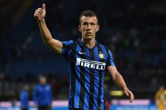 MILAN, ITALY - SEPTEMBER 23:  Ivan Perisic of Internazionale Milano greets supporters after winning the Serie A match between FC Internazionale Milano and Hellas Verona FC at Stadio Giuseppe Meazza on September 23, 2015 in Milan, Italy.  (Photo by Tullio M. Puglia/Getty Images)