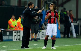 during the Uefa Champions League group G match between AC Milan and Auxerre on September 15, 2010 in Milan, Italy.