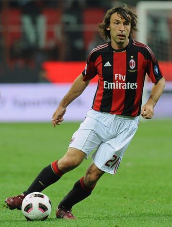 MILAN, ITALY - APRIL 16:  Andrea Pirlo of AC Milan in action during the Serie A match between AC Milan and UC Sampdoria at Stadio Giuseppe Meazza on April 16, 2011 in Milan, Italy.  (Photo by Valerio Pennicino/Getty Images)
