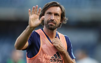 NEW YORK, NY - JULY 19: Andrea Pirlo of New York City waves to fans prior to the MLS fixture between Toronto FC and New York City FC at Yankee Stadium on July 19, 2017 in New York City. (Photo by Robbie Jay Barratt - AMA/Getty Images)