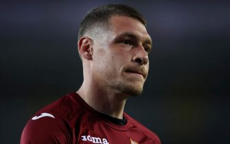 Torino FC's Italian striker Andrea Belotti during the Serie A match at Stadio Grande Torino, Turin. Picture date: 23rd June 2020. Picture credit should read: Jonathan Moscrop/Sportimage