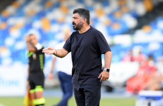 NAPLES, ITALY - JUNE 28: Gennaro Gattuso SSC Napoli coach during the Serie A match between SSC Napoli and  SPAL at Stadio San Paolo on June 28, 2020 in Naples, Italy. (Photo by Francesco Pecoraro/Getty Images)