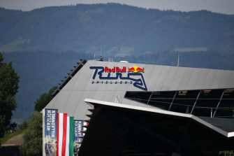 SPIELBERG, AUSTRIA - JULY 02: A general view of the pit building during previews for the F1 Grand Prix of Austria at Red Bull Ring on July 02, 2020 in Spielberg, Austria. (Photo by Bryn Lennon/Getty Images)
