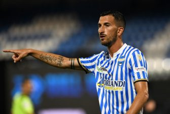 FERRARA, ITALY - JULY 01: Mirko Vadifiori of SPAL during the Serie A match between SPAL and AC Milan at Stadio Paolo Mazza on July 1, 2020 in Ferrara, Italy. (Photo by Chris Ricco/Getty Images)
