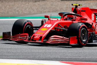 Ferrari's Monegasque driver Charles Leclerc steers his car during the qualifying round at the Austrian Formula One Grand Prix on July 4, 2020 in Spielberg, Austria. - Seven months after they last competed in earnest, the Formula One circus will push a post-lockdown re-set button to open the 2020 season in Austria on July 5. (Photo by Darko Bandic / POOL / AFP) (Photo by DARKO BANDIC/POOL/AFP via Getty Images)