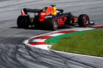 SPIELBERG, AUSTRIA - JULY 04: Max Verstappen of the Netherlands driving the (33) Aston Martin Red Bull Racing RB16 on track during qualifying for the Formula One Grand Prix of Austria at Red Bull Ring on July 04, 2020 in Spielberg, Austria. (Photo by Darko Bandic/Pool via Getty Images)