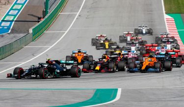 Drivers take the start during the Austrian Formula One Grand Prix race on July 5, 2020 in Spielberg, Austria. (Photo by Darko Bandic / POOL / AFP) (Photo by DARKO BANDIC/POOL/AFP via Getty Images)