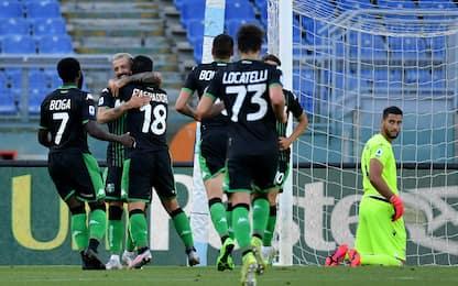 Lazio-Sassuolo 1-2, la 32esima giornata di serie A in diretta. FOTO