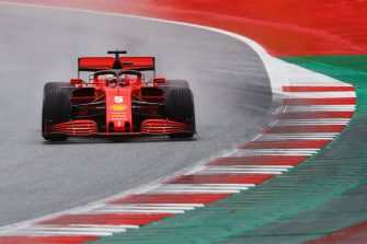 SPIELBERG, AUSTRIA - JULY 11: Sebastian Vettel of Germany driving the (5) Scuderia Ferrari SF1000 on track during qualifying for the Formula One Grand Prix of Styria at Red Bull Ring on July 11, 2020 in Spielberg, Austria. (Photo by Leonhard Foeger/Pool via Getty Images)