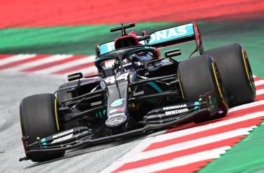 Mercedes' British driver Lewis Hamilton steers his car during the Formula One Styrian Grand Prix race on July 12, 2020 in Spielberg, Austria. (Photo by Joe Klamar / various sources / AFP) (Photo by JOE KLAMAR/AFP via Getty Images)