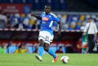 NAPLES, ITALY - JULY 05: (BILD ZEITUNG OUT) Kalidou Koulibaly of Napoli controls the ball during the Serie A match between SSC Napoli and AS Roma at Stadio San Paolo on July 5, 2020 in Naples, Italy. (Photo by Matteo Ciambelli/DeFodi Images via Getty Images)