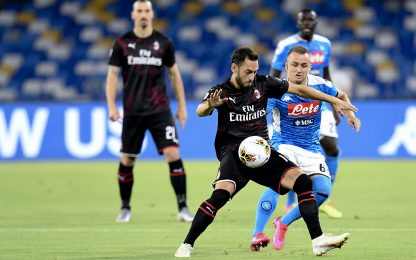 Napoli-Milan 0-1, 32esima giornata serie A in diretta. FOTO