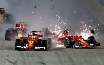 during the Formula One Grand Prix of Singapore at Marina Bay Street Circuit on September 17, 2017 in Singapore.