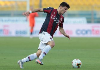PARMA, ITALY - JULY 12:  Riccardo Orsolini of Bologna FC in action during the Serie A match between Parma Calcio and Bologna FC at Stadio Ennio Tardini on July 12, 2020 in Parma, Italy.  (Photo by Emilio Andreoli/Getty Images)