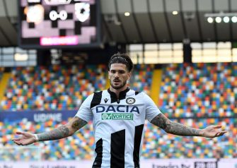 UDINE, ITALY - JULY 12: Rodrigo De Paul of Udinese Calcio reacts during the Serie A match between Udinese Calcio and  UC Sampdoria at Stadio Friuli on July 12, 2020 in Udine, Italy. (Photo by Alessandro Sabattini/Getty Images)