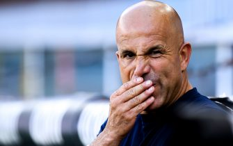 GENOA, ITALY - JULY 12: Coach Luigi Di Biagio of SPAL before the Serie A match between Genoa CFC and SPAL at Stadio Luigi Ferraris on July 12, 2020 in Genoa, Italy. (Photo by Paolo Rattini/Getty Images)