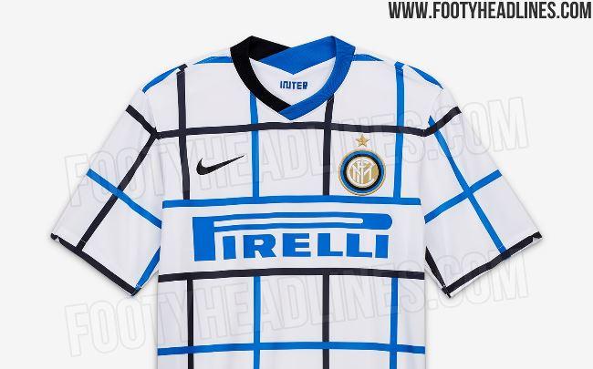 La presunta seconda maglia dell'Inter per la stagione 2020-21 (FootyHeadlines.com)