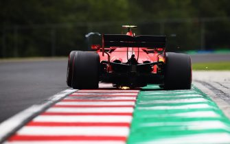 BUDAPEST, HUNGARY - JULY 18: Charles Leclerc of Monaco driving the (16) Scuderia Ferrari SF1000 on track during qualifying for the F1 Grand Prix of Hungary at Hungaroring on July 18, 2020 in Budapest, Hungary. (Photo by Mark Thompson/Getty Images)