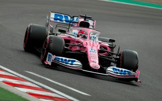 Racing Point's Mexican driver Sergio Perez steers his car during the qualifying session for the Formula One Hungarian Grand Prix at the Hungaroring circuit in Mogyorod near Budapest, Hungary, on July 18, 2020. (Photo by Darko Bandic / POOL / AFP) (Photo by DARKO BANDIC/POOL/AFP via Getty Images)