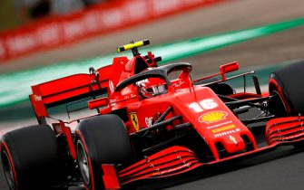 Ferrari's Monegasque driver Charles Leclerc steers his car during the qualifying session for the Formula One Hungarian Grand Prix at the Hungaroring circuit in Mogyorod near Budapest, Hungary, on July 18, 2020. (Photo by Leonhard Foeger / POOL / AFP) (Photo by LEONHARD FOEGER/POOL/AFP via Getty Images)