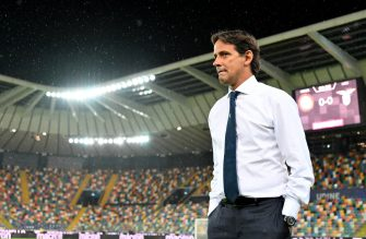 UDINE, ITALY - JULY 15: SS Lazio head coach Simone Inzaghi during the Serie A match between Udinese Calcio and  SS Lazio at Stadio Friuli on July 15, 2020 in Udine, Italy. (Photo by Marco Rosi - SS Lazio/Getty Images)