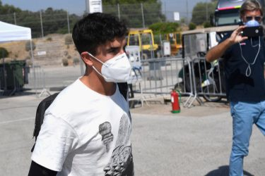 JEREZ DE LA FRONTERA, SPAIN - JULY 23: Marc Marquez of Spain and Repsol Honda Team  arrives on track after the surgery on Tuesday in Barcelona during the MotoGP of Andalucia - Previews at Circuito de Jerez on July 23, 2020 in Jerez de la Frontera, Spain. (Photo by Mirco Lazzari gp/Getty Images)