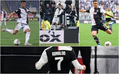 Cristiano Ronaldo, la fotostoria della sua seconda stagione in Serie A