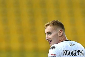PARMA, ITALY - JULY 28:  Dejan Kulusevski of Parma Calcio looks on during the Serie A match between Parma Calcio and Atalanta BC at Stadio Ennio Tardini on July 28, 2020 in Parma, Italy. (Photo by Alessandro Sabattini/Getty Images)