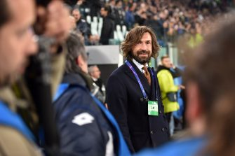 TURIN, ITALY - MARCH 12: Former Juventus player Andrea Pirlo is seen before the UEFA Champions League Round of 16 Second Leg match between Juventus and Club de Atletico Madrid at Allianz Stadium on March 12, 2019 in Turin, . (Photo by Tullio M. Puglia/Getty Images)
