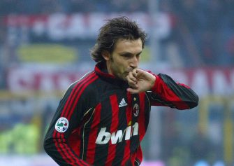 Milan, ITALY:  AC Milan's midfielder Andrea Pirlo celebrates after scoring against Reggina during their Italian Serie A match at San Siro Stadium, 14 January 2007. AFP PHOTO / GIUSEPPE CACACE  (Photo credit should read GIUSEPPE CACACE/AFP via Getty Images)