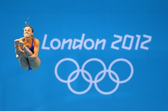 LONDON, ENGLAND - AUGUST 03: Tania Cagnotto of Italy competes in the Women's 3m Springboard Diving Preliminary Round on Day 7 of the London 2012 Olympic Games at the Aquatics Centre on August 3, 2012 in London, England.  (Photo by Al Bello/Getty Images)