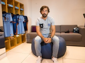 NEW YORK, NY - AUGUST 30:  Soccer player Andrea Pirlo attends the NYCFC pop-up experience store VIP launch party on August 30, 2017 in New York City.  (Photo by Noam Galai/Getty Images)